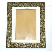 Beautiful Handmade Steel Picture Frame Gold Wire Work Home Decorative Gift Item