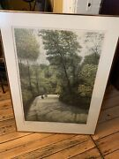 Harold Altman 1983 Lithograph Signed 50/285 Andldquoafternoon Shadowandrdquo Paris Park Framed