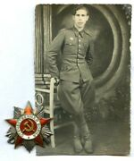 Soviet Red Army Ww2 Order Patriotic War 2nd Cl 564969 For Polish Officer +photo