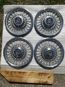 1967 Cougar Wire Wheel Covers Hub Caps Set C7wy 1130 C