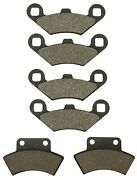 Front And Rear Brake Pads For Polaris Trail Boss 350 L 2x4 4x4 1991 1992 1993