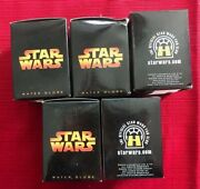 2005 Lucasfilm Encore Star Wars Water Globes Lot Of 5 New Nib