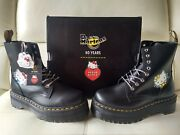 Doc Dr. Martens Hello Kitty Jadon Leather Boots 2020 Edition Brand New Size 4uk