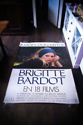 Bardot Festival The Contempt 4x6 Ft Bus Shelter D/s Movie Poster Original 1980and039s
