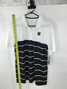 Nike Ncaa Tennessee Volunteers Striped Golf Polo Shirt Cj1219-101 Menand039s Size L