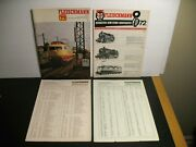 Fleischmann 1971 And 1972 Catalog Price Lists Model Railroad Lot German And English