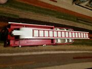 Vintage 1970and039s Large Tonka Red Metal Toy Fire Truck Extended Ladder