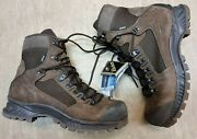 New Meindl German Army Sf Issue Brown Leather Gore-tex Combat Boots Size 11 Uk