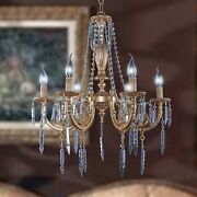 Chandelier Brass Of Fusion 6 Lights Style Classic Crystal Design Op