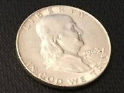 1963 D Ben Franklin Silver Half Dollar Good Circulated Please Review Pictures