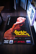 Jackie Brown Style D 4x6 Ft Bus Shelter Vintage Movie Poster Original 1998 Used
