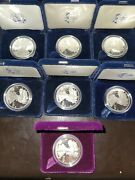 American Eagle One Ounce Silver Proof Coin Lot Of 7