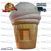 13ft Inflatable Ice Cream Concession Stand Tent Candy Booth With Air Blower