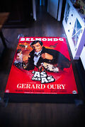 Ace Of Aces Belmondo 4x6 Ft French Grande Rolled Movie Poster Original 1982
