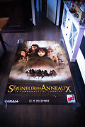 Lord Of Rings Style A 4x6 Ft Bus Shelter D/s Movie Poster Original 2001 Used