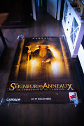 Lord Of Rings Style B 4x6 Ft Bus Shelter D/s Movie Poster Original 2001 Used