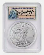 2021 Ase Type 1 Pcgs Ms70 Fs 1 Of 1000 Leonard Buckley First Strike Silver Coin