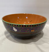 Longaberger Pottery Halloween Party Boo Bowl Candy Treats Free Shipping Nwob