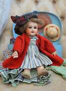 Antique French Jumeau Doll Fully Jointed Body Bleuette Little Sister 8.66