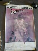 Rare Raiders Of The Lost Ark 1981 Authentic 26x40 Poster Harrison Ford 810100