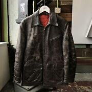 Vintage 40s 50s 60s Brown Leather Jacket - Medium Lined Nice Rare Yes Car Coat