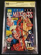 New Mutants 98 Cbcs Ss 9.0 Signed By Rob Liefeld First Deadpool
