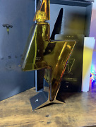 Empty Tesla Tequila Tequilla Bottle + Stand + Box Limited In Hand Fast Ship