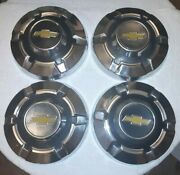 4 Vintage 1960's 1970's 1980's Chevy Truck Yellow Bow Tie 12 Hubcaps