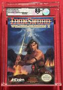 Ironsword Wizards And Warriors Ii Nes, 1989 Sealed Vga 80+ Wata A+ Igs Mint