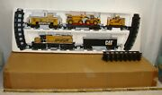 Caterpillar Cat Construction Diesel Train Set Battery Operated O Scale Boxed
