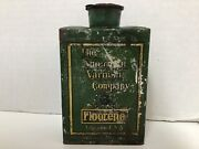 Antique Vintage The American Varnish Co. Metal Advertising Can Tin