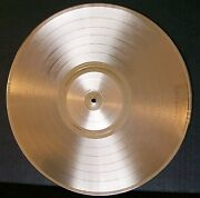 Blank Gold Plated Lp Record High Quality To Custom Customize Award Trophy Vinyl