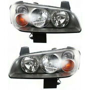 Fits 2002-2003 Nissan Maxima Pair Headlights Hid Type Driver And Passenger
