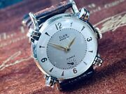 1932 Elgin 'knoted Lug' Man's Wrist Watch W/nice Dial And Clear Crystal Keeps Time