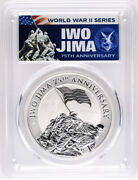 2020 1 Iwo Jima 75th Anniversary 1oz Silver Coin Pcgs Ms70 First Day Of Issue