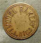 Galion Ohio Model Bakery F.l. Myers // Good For 5c In Trade. Brass 28mm
