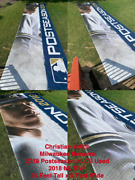 Christian Yelich 36ft X 9ft Miller Park Used Banner 2018 Nlcs Milwaukee Brewers