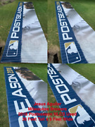 Jesus Aguilar 36 Ft X 9 Ft Miller Park Used Banner 2018 Nlcs Milwaukee Brewers