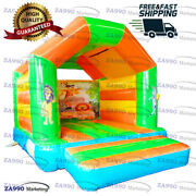 13x10ft Inflatable Midi Jungle Bounce House Bouncy Castle With Air Blower