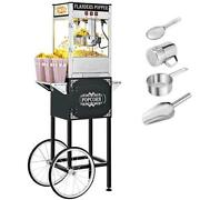 Vintage Style 8 Oz Kettle Popcorn Machine With Cart Built-in Insulationandheating