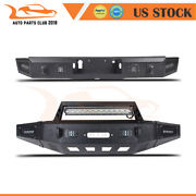 Offroad Powder Coated Front Rear Bumper Guard W/ Led Lights For 15-17 Ford F150