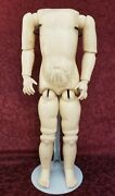 Large Antique German Composition Jointed Body For A Bisque Socket Head Doll 23