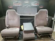 1999 Dodge 1500 Extended Cab Front And Rear Manual Cloth Seat Gray Agate Trim R1az