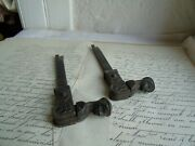 French A Pair Of Vintage Shutter Stopper Solid Authentic Hardware