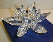 Iris Arc Crystal Stunning Candleholder Or Paperweight . Signed