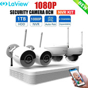Laview 8ch H.265+ 1080p Nvr Ip Security Camera System Outdoor 4x 2mp Cctv Kit