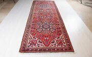 10and039 8 X 3and039 10 Collectible Antique Runner Rug Faded Rustic Red Hallway Carpet