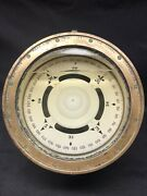 Wwii 1941 U.s. Navy Warship Binnacle Brass Compass By Lionel Corp. Ny