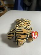 Rare Beanie Babies Stripes The Bengal Tiger 1995 Style 4065 Many Tag Errors