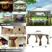 Outdoor Canopy Gazebo Camping Tent 12'x12' With 4 Sandbags With 144 Square Feet